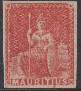Sc# 10 Mauritania 1858-59 (6p) four margin imperf issue XF MLH CV: $60.00