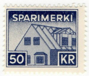 (I.B) Iceland Revenue : Savings Stamp 50Kr (Sparimerki)