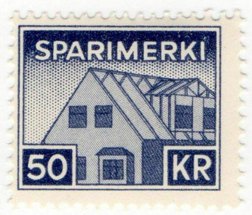 (I.B) Iceland Revenue : Savings Stamp 50Kr (Sparimerki)