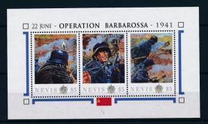 [81043] Nevis 2011 Second World war Operation Barbarossa Sheet MNH