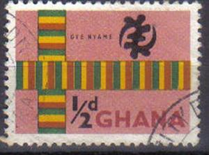 GHANA, 1959, used ½d. ?Gye Nyame?