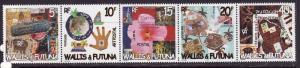 Wallis & Futuna-Sc#567-unused NH set-Postal Art-2003-