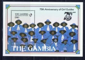 Gambia 593 NH 1985 Girl Guides S/S