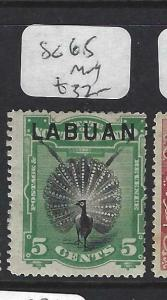 LABUAN (P1303B)  5C  BIR  SG 65   MOG