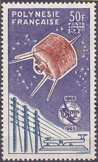 FRENCH POLYNESIA 1965 ITU MNH.............................................68949a