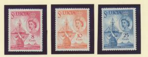 St. Lucia Scott #173 To 175, Mint Light Hinge Marks MLH, Granting of the New ...