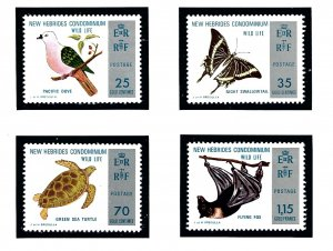 British New Hebrides 183-86 MNH 1974 Nature Conservation