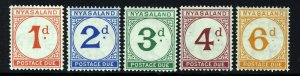 NYASALAND King George VI 1950 The Full POSTAGE DUES Set SG D1 to SG D5 MINT