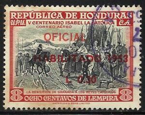 Honduras Air Mail 1953 Scott# C215 Used