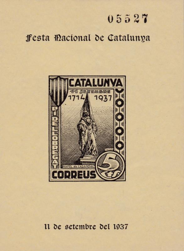 Spain 1937 Sheet Produced Local Fiesta National de Catalunya  VF/NH