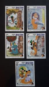 Disney - Bhutan 1985. - Brothers Grimm ** MNH complete set