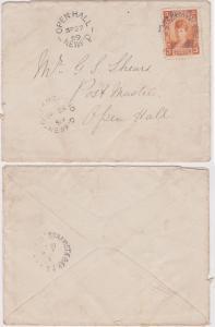 Newfoundland - #83 3c Alexandra Tied 1899 Cover BONAVISTA BAY GREENSPOND