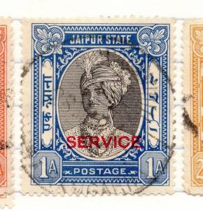 Jaipur Indian States 1930s Early Issue Fine Used 1a. Service Optd 207703