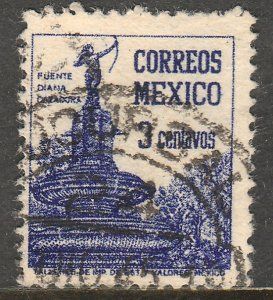 MEXICO 805, 3cents Diana the Huntress Fountain. Used. F-VF. (831)