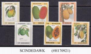 BANGLADESH - 1990 FRUITS - 6V - MINT NH