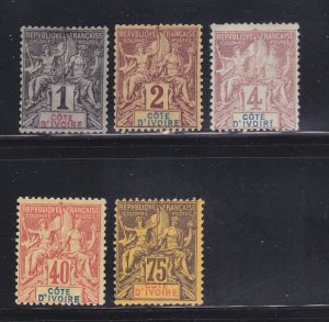 Ivory Coast 1-3, 13, 16 MH Navigation And Commerce
