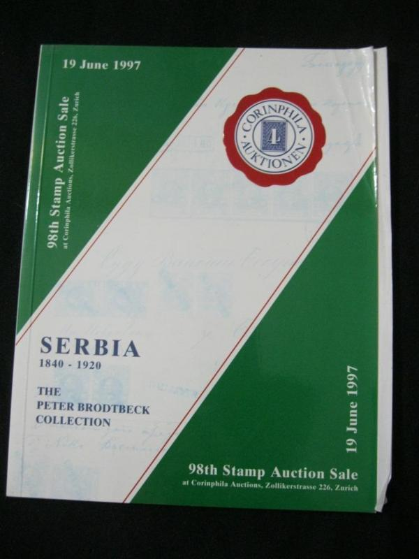 CORINPHILA AUCTION CATALOGUE 1997 SERBIA 'PETER BRODTBECK' COLLECTION