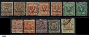 ITALY Eritrea 1903 Selection of Used Stamps