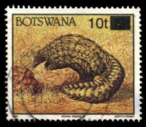 Botswana 594A, used, surcharge Pangolin
