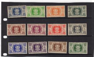 Wallia and Futura  1944 Tiki stamps  MH  12-14