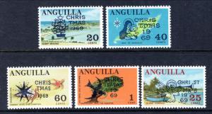 Anguilla 78-82 Christmas MNH VF