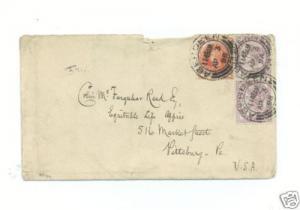 1896 Aberdeen Scotland United Kingdom  Cover to USA