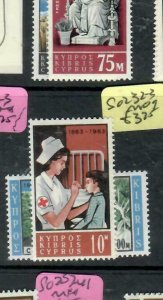 CYPRUS (PP2512B) QEII  RED CROSS   SG 232-233    MOG