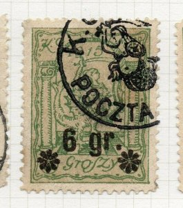 Poland Warsaw 1916 Early Issue Fine Used 6gr. Surcharged Postmark NW-14477