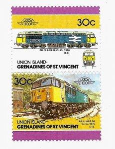 Union Island 1986 - MNH - Pair - Scott #25 *