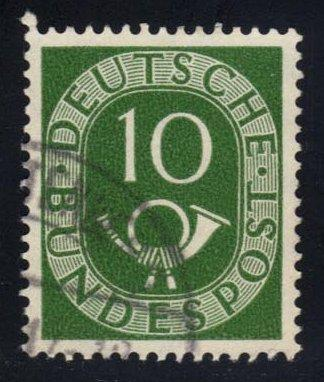 Germany #675 Numeral and Post Horn, used (0.30)