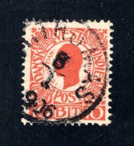 Danish West Indies #32,  F/VF,  Used,   CV $3.25 ....1630029