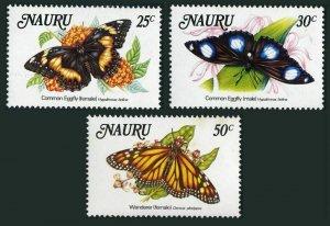 Nauru 297-299,MNH.Michel 284-286. Butterflies 1984.