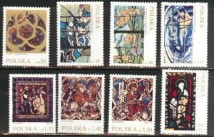 Poland Scott 1832-1838,B122 MNH** 1971  stained glass set