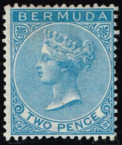 UK STAMP BERMUDA 1884 Queen Victoria 2P UNUSED NG STAMP