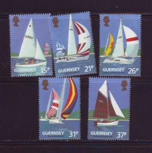 Guernsey Sc 459-3 1991 Yacht Club stamp set mint NH