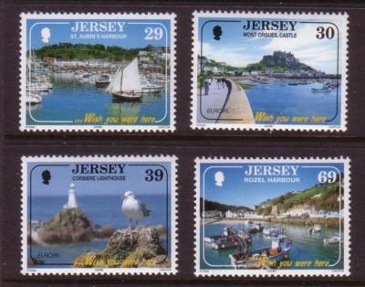 Jersey Sc 1112-5 2004 Tourist Attractions stamp set mint NH