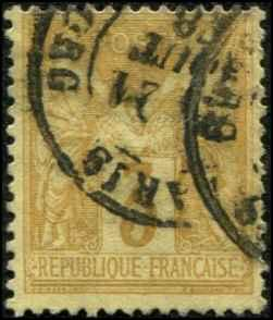 France SC# 89 Peace & Commerce 3c USED SCV $ 47.50