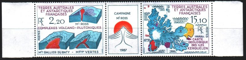 French Southern and Antarctic Territories. 1988. 242-43. Geology of Kerguelen...