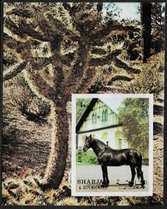 Sharjah Michel Block 116 MNH S/Sheet - Horse