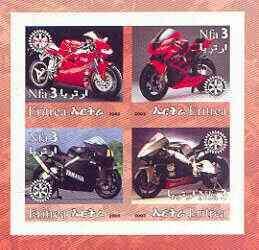 ERITREA IMPERF MOTORCYCLES