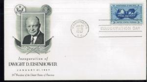 1957 Washington DC President Dwight D Eisenhower Inauguration Event Cover
