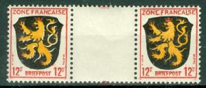 Germany - Allied Occupation - French Zone - Scott 4N6 Pair MNH