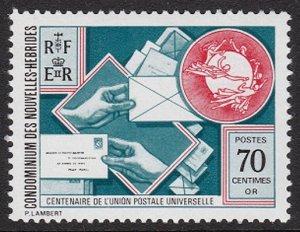 1974 New Hebrides 400 100 years of UPU