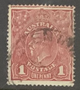 AUSTRALIA GV HEADS. SG21 PENNY WITH MARGINAL LINE AT TOP