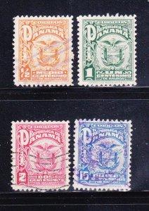 Panama 234-236, 240 U Coat of Arms (B)