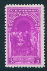 USA Scott 854 MNH** Washington Inaugration 1939 stamp