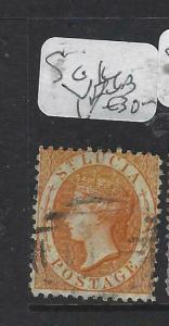 ST LUCIA  (PP2705B)  QV   SG  14B      VFU