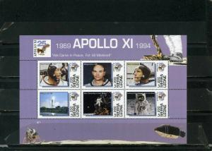 DOMINICA 1994 Sc#1723 SPACE APOLLO 14 SHEET OF 6 STAMPS MNH