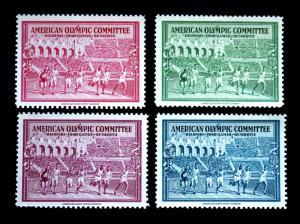OLYMPIC STAMPS 1940 HELSINKI  MNH - AMERICAN BANK NOTE COMPANY, SET OF 4