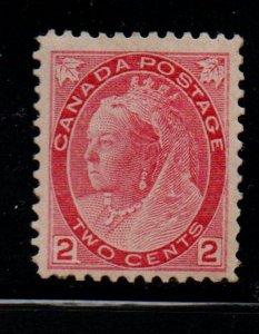 Canada Sc 77 1899 2c carmine Victoria Numeral stamp mint